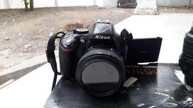 Kamera nikon d5200 + lensa fix f 1.8