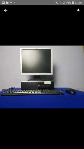 Pc hp core 2 duo desktop ddr3 lengkap lcd murah