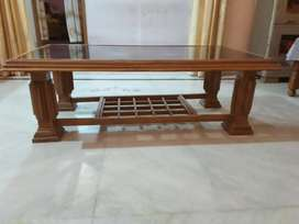 Wooden Glass Table , 4 year old,  In well condition