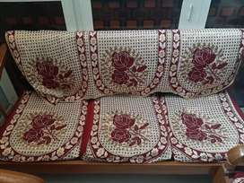 Sofa set in very good condition with free new covers of cost 1500