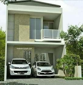 Rumah 2 Lantai cuma 765jt disamping GOR GDC Deket Waterpark Aladin