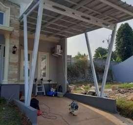 Kami bengkel las nerimah pembuatan kanopi atap sepandex $$1155