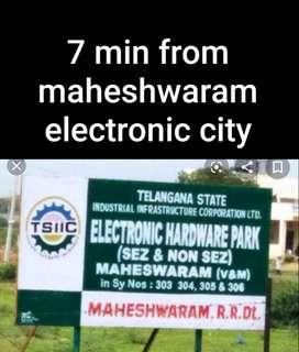 Own a HMDA Open plots for sale at Thimmapur Near Maheswaram,  best ser