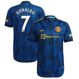 Manchester United Third Authentic Shirt 2021-22 with Ronaldo 7 printin