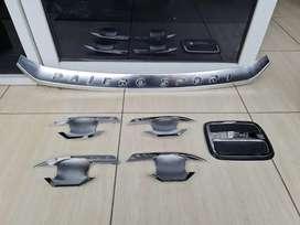 Cover bumper depan, cover tutup bensin, cover handle all new pajero