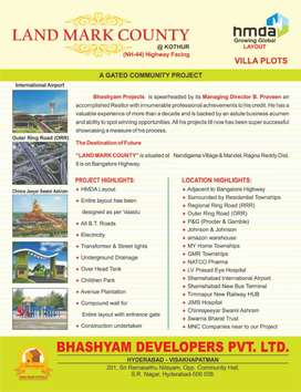 HMDA approved layout at Bangalore National Highway kothur Open Plots
