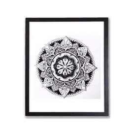 Mandala drawing with frame