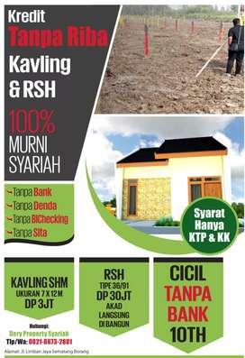 Rumah dan kavling cicil tanpa bank di borang