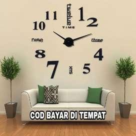 Jam Dinding Besar, Giant Wall Clock Quartz Creative design 80-130 cm
