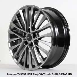jual velg london hsr ring18 warna hyperblack et45