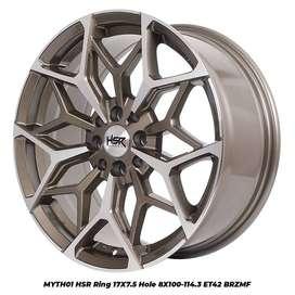 Velg mobil racing ring 17 MYTH01 HSR R17X75 H8X100-114,3 ET42 BRZMF