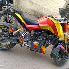 Very good condition with modified bike