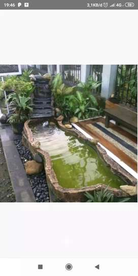 Terima pembuatan kolam ikan hias