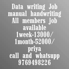 Data writing Job New opening start