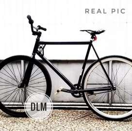 NEGO Sepeda Fixie Leader TRK 729 | Road Bike | Fixed Gear | Custom