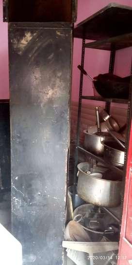 All kitchen utensils, front restaurant board, ducting