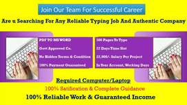 Data entry part time jobs in home
