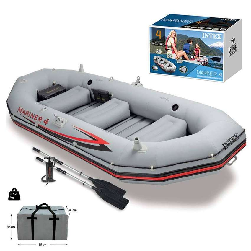 Inflatable Kayaking Dinghy Fishing Boat Set, 5 Person Boats' 0