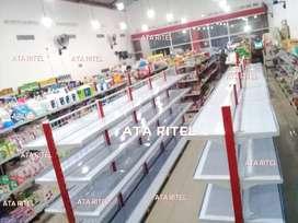 Rak toko supermarket sembako jual gondola minimarket bukan bekas