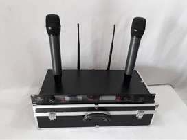 microphone wireless uhf   NEW MODEL  + KOPER MEWAH  2,1jt
