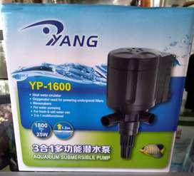 Di jual Pompa Filter Aquarium merk Yang YP 1600 dgn Harga Rp 150.000