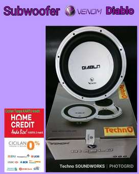 Bass Subwoofer diablo venom 12 in paket for tv mobil sound audio