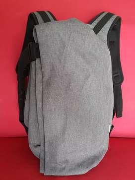 Tas import eks OZUKO backpack unik kanvas tebal grey mix black