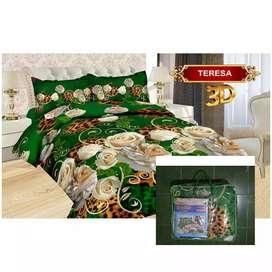 Bed Cover Flat Bonita Ukuran 220x220 Motif Teresa