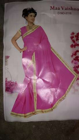 Saree with thread working