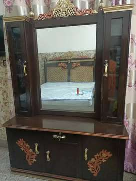 dressing table with two door windows