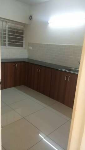 3/BHK semi furnished with kitchen cabinets ward robs gas line