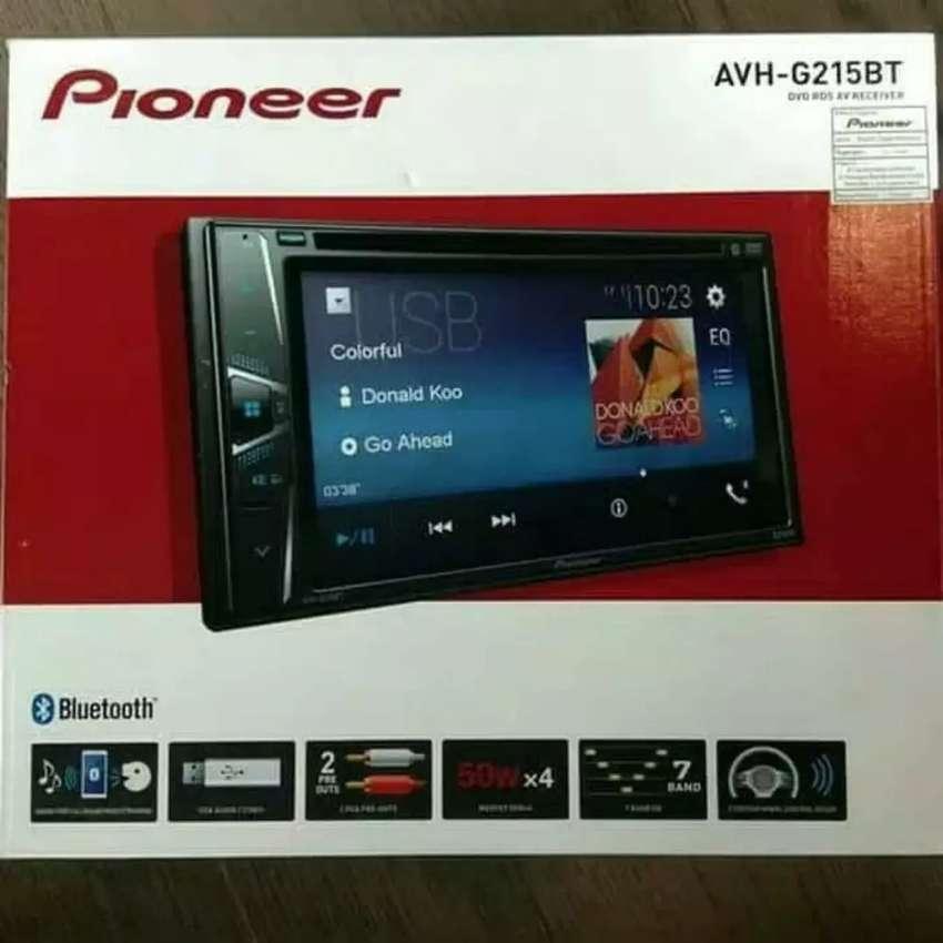 G 215 BT pioneer tv mobil double din tape usb Bluetooth cicilan velg 0