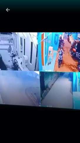 paket CCTV kumplit siap pasang kapasitas 2mp