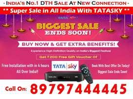 Internet Tv! Tata Sky HD & Dishtv Tatasky Airteltv Book Now New Box !!