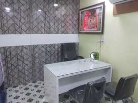 Office is furnished newly  chairs air condition
