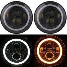 Car thar jeep bullet Royal enfield headlight 7inch drl indicator led.