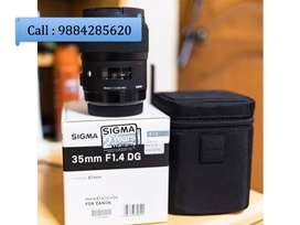 Sigma 35mm f/1.4 Art Lens for Canon in Good Condition