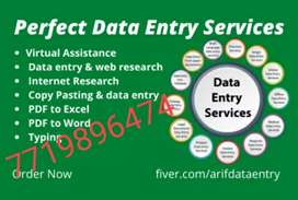 Typing data entry work simple typing work