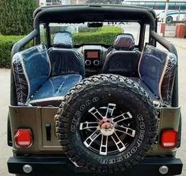 Modified stylish open jeep