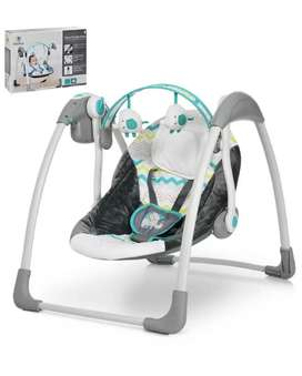 Mastela Deluxe Musical Portable Baby Swing | Purple, Age Group 3M+