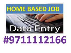 HOME BASED DATA ENTRY JOB PART TIME WORK JOIN 9711'1121'66 APPLY NOW