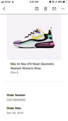 Brand New Unisex Nike Air Max 270 Geometric Abstract Shoes