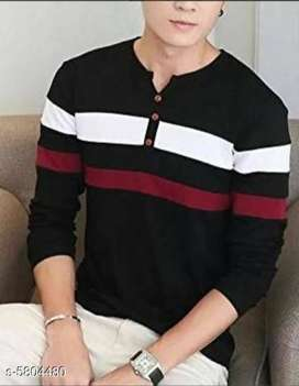 Stylish Men's Tshirt Vol 1 Fabric: Cotton Blend Sleeve Length: Long Sl