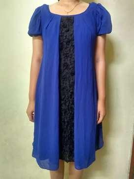 Dress biru ukuran L