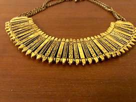 Brand New Oxidised Gold Statement Necklace