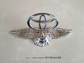 Bently Type Bonnet Logo fitmnt for all toyota cars