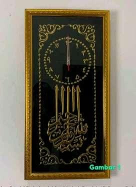 Jam Dinding Kaligrafi Motif