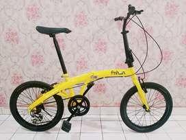 Sepeda lipat seli ukuran 20 mulus lus enak di gowes