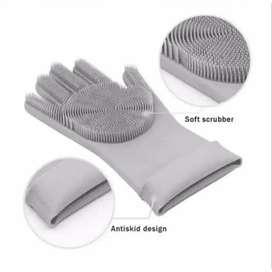Sarung Tangan Silikon Serba Guna untuk Mencuci Sangat Praktis & Bersih