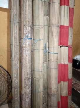 Tirai kayu motif dan tirai isi bambu,kulit